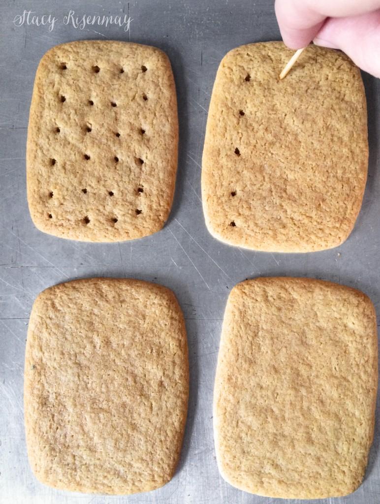 making holes in homemade graham crackers