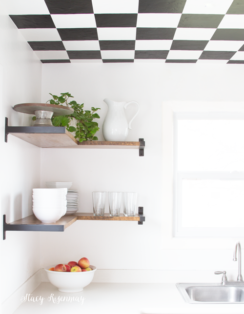 Industrial Floating Kitchen Shelves