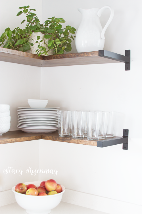 kitchen shelves with ikea bracket - Kitchen Corner Shelf