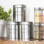 Metal Tins For Baking Supplies {Styled X3}