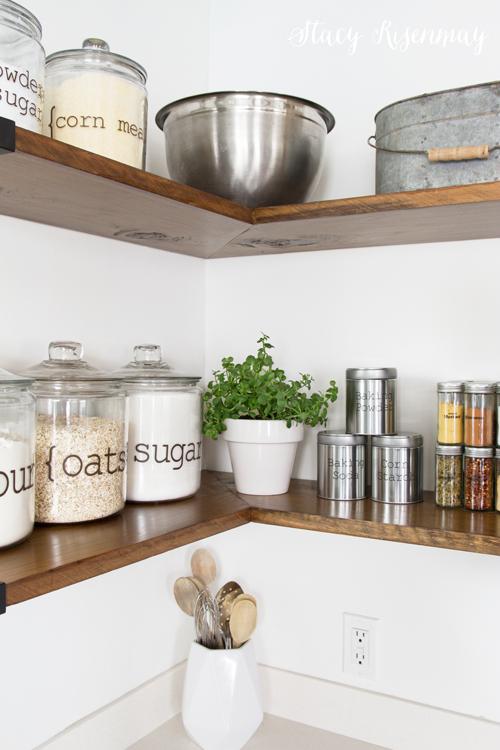 kitchen- open shelves