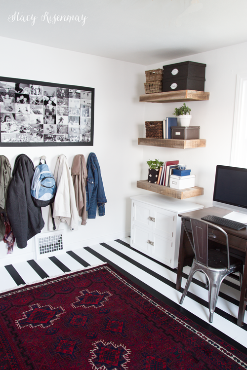 office and mudroom