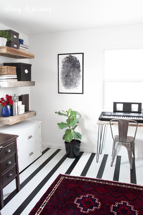 office with painted floors