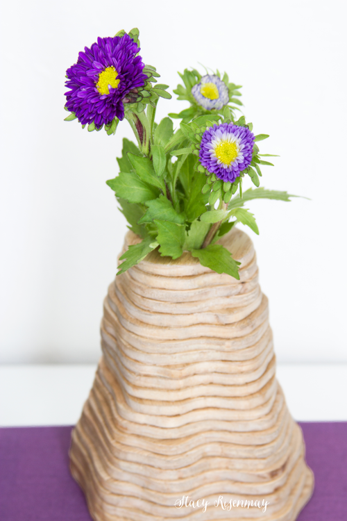 topagraphy inspired vase