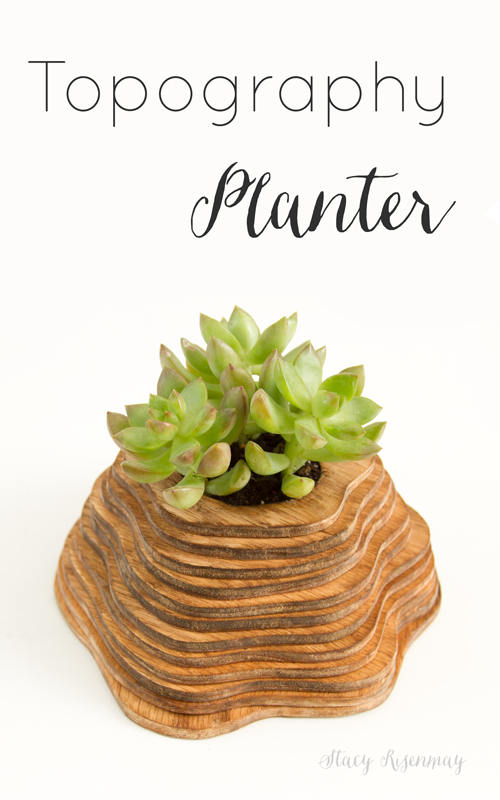 topography inspired planter