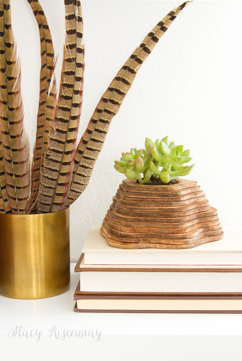 wooden topography planter