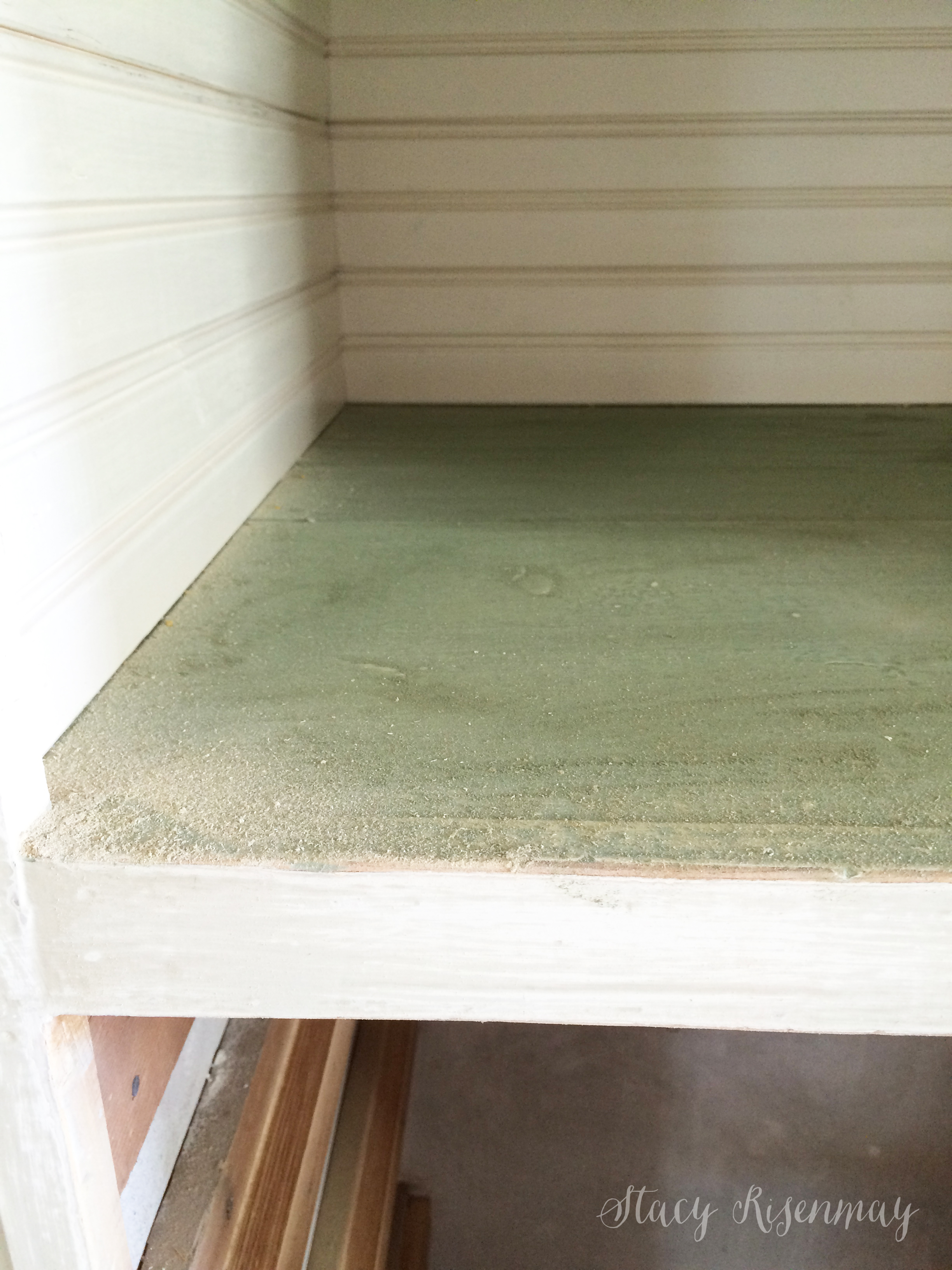 sanding in preparation to paint