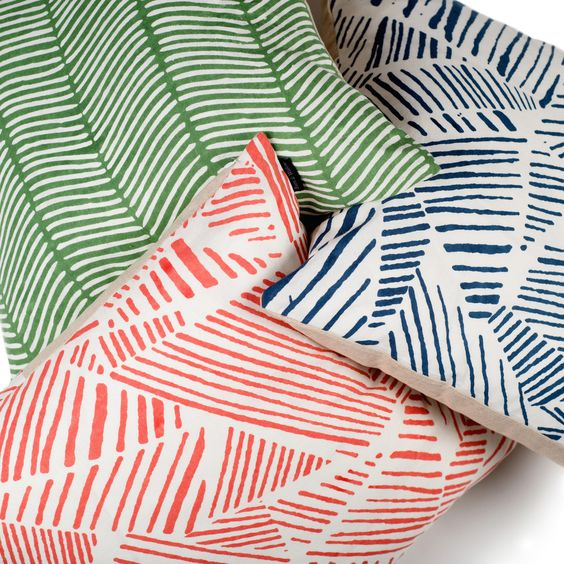 drawn lines pillows