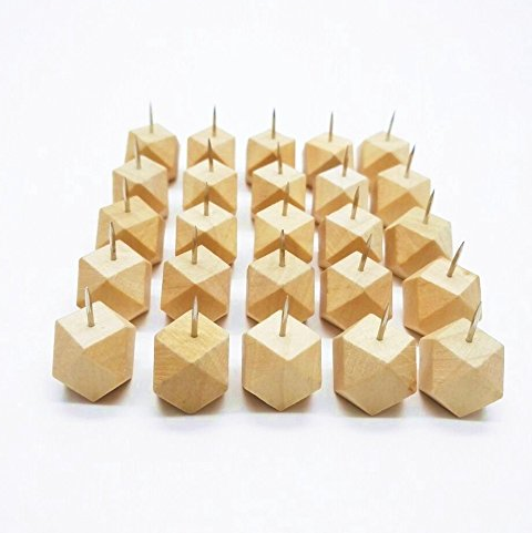 geometric push pins