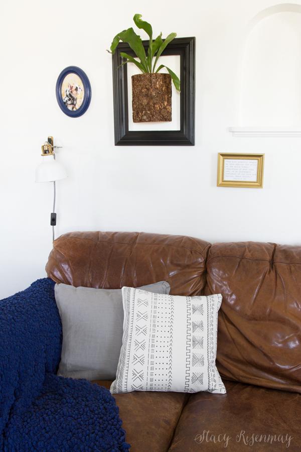DIY tribal pillow cover