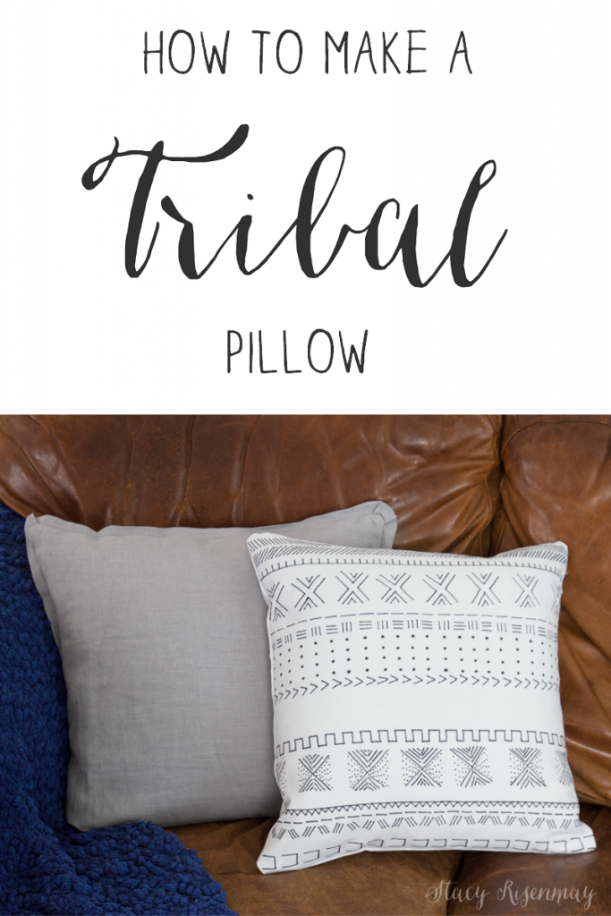 tribal pillow tutorial