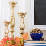 Blue and Orange Fall Decor