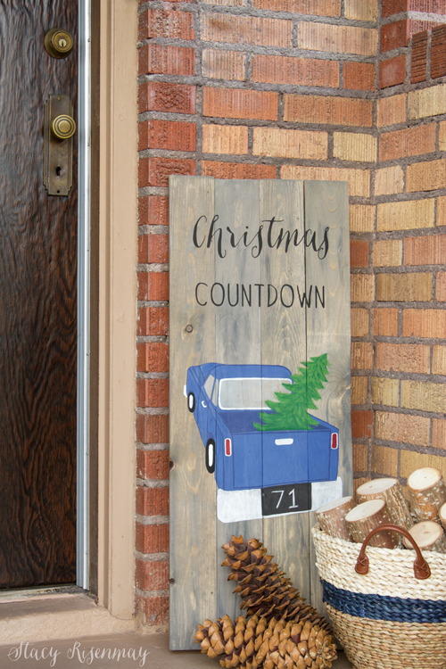 Christmas Countdown Chalkboard Sign