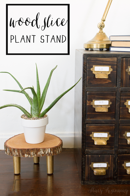 wood-slice-plant-stand