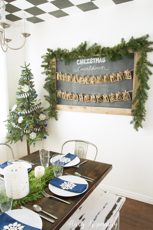 Christmas dining room with cute advent calendar!