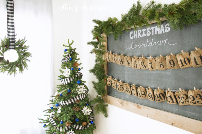 burlap sack advent calendar