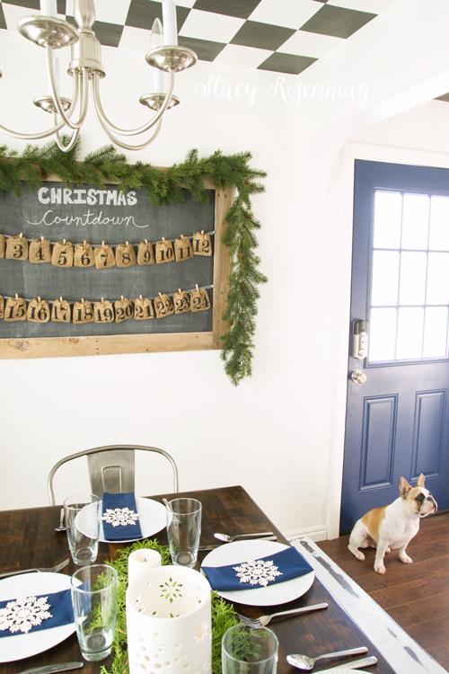 Christmas dining room - A Blue Christmas!
