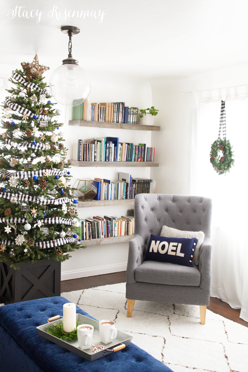 Christmas home tour - I love the NOEL pillow!