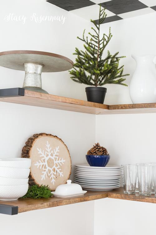 Christmas kitchen shelves