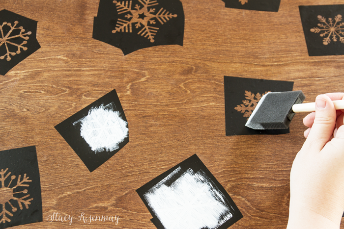 use-a-foam-brush-to-stencil-the-snowflakes