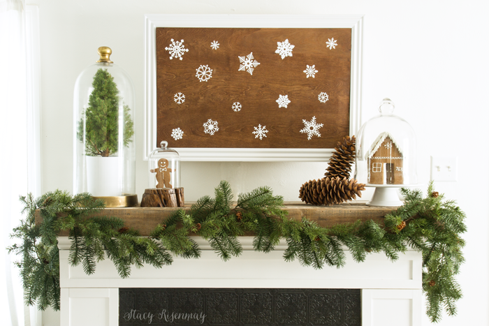 Gingerbread mantel