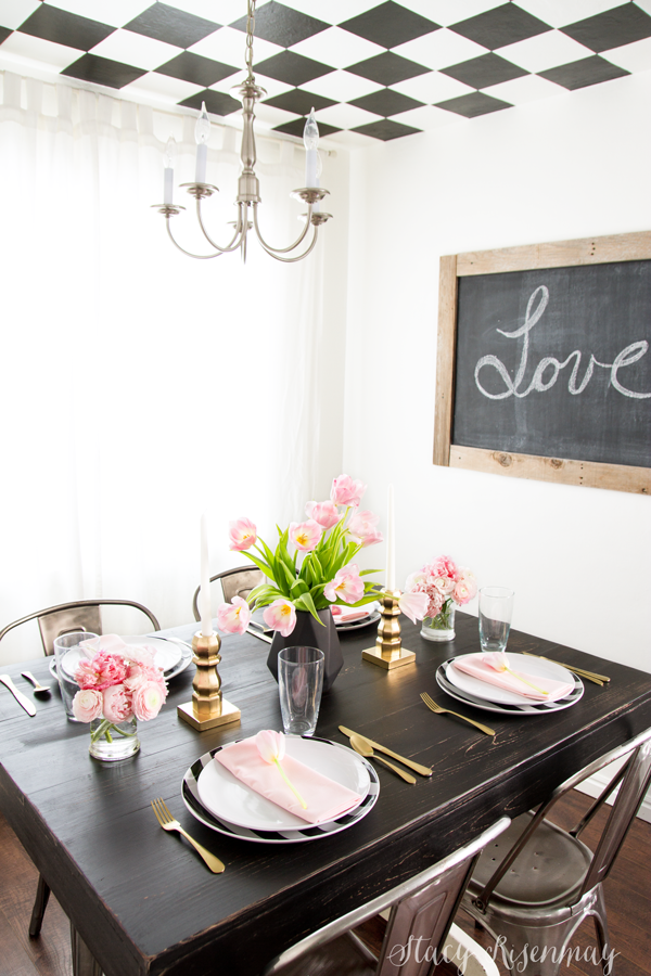 black-gold-and-blush-valentine's-day-table-setting