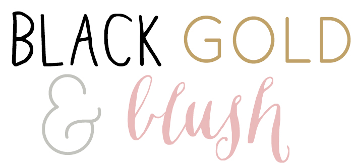 black gold and blush