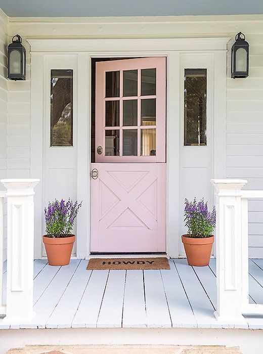 pink dutch door
