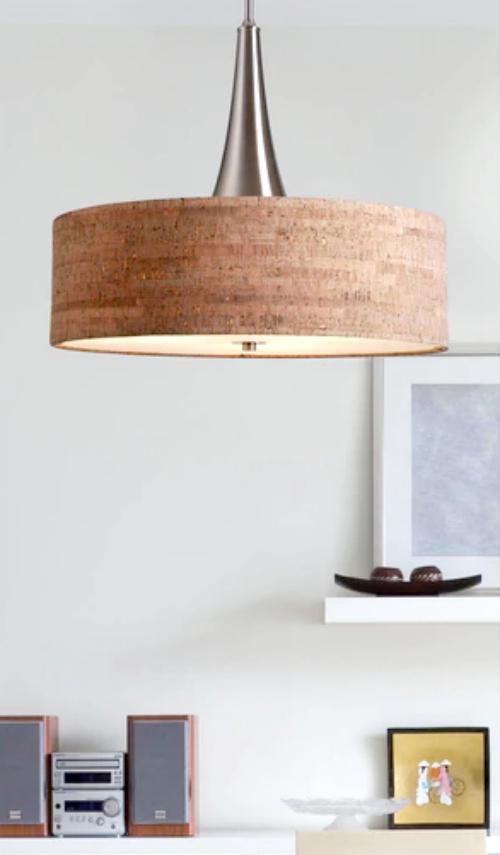 cork light fixture