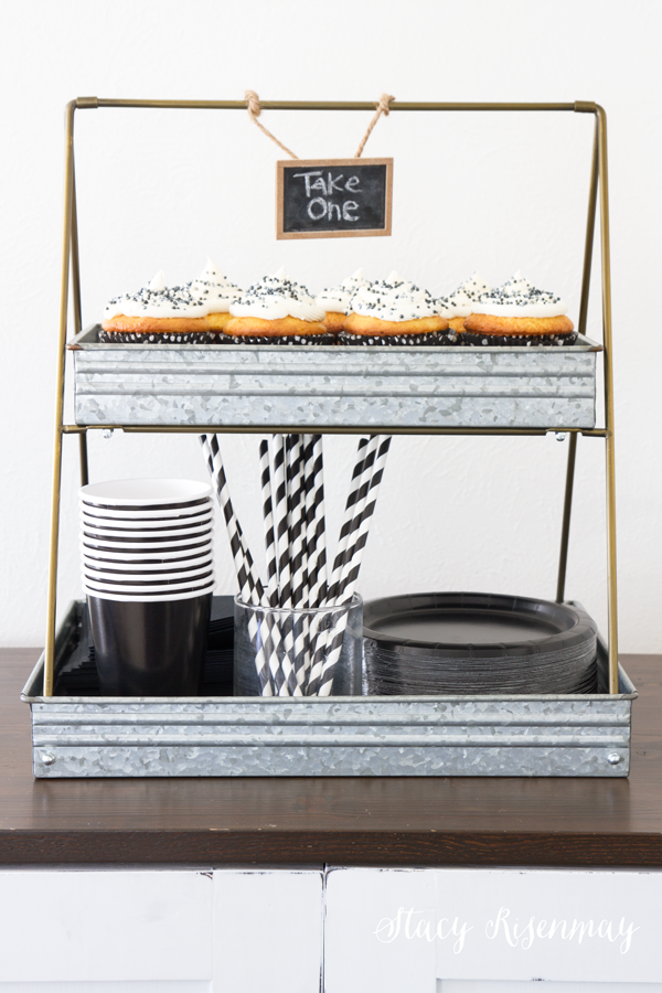 cupcake and party supply tiered stand