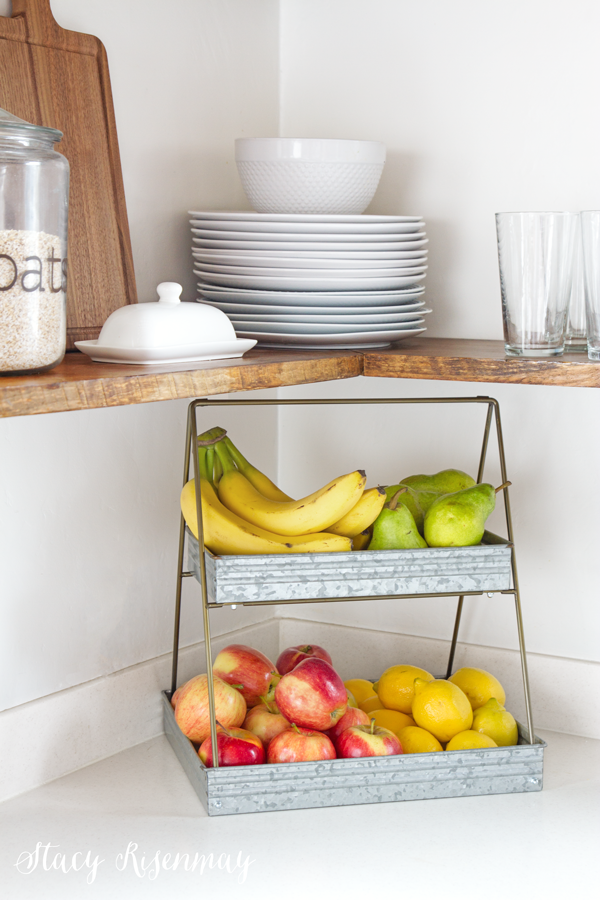 metal tiered tray for fruit