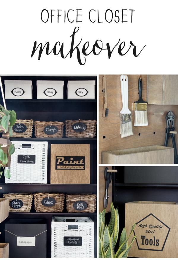 office closet organization makeover