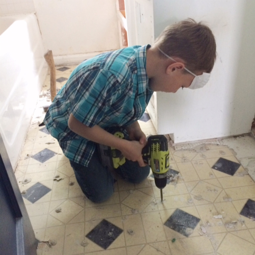 removing screws from floor
