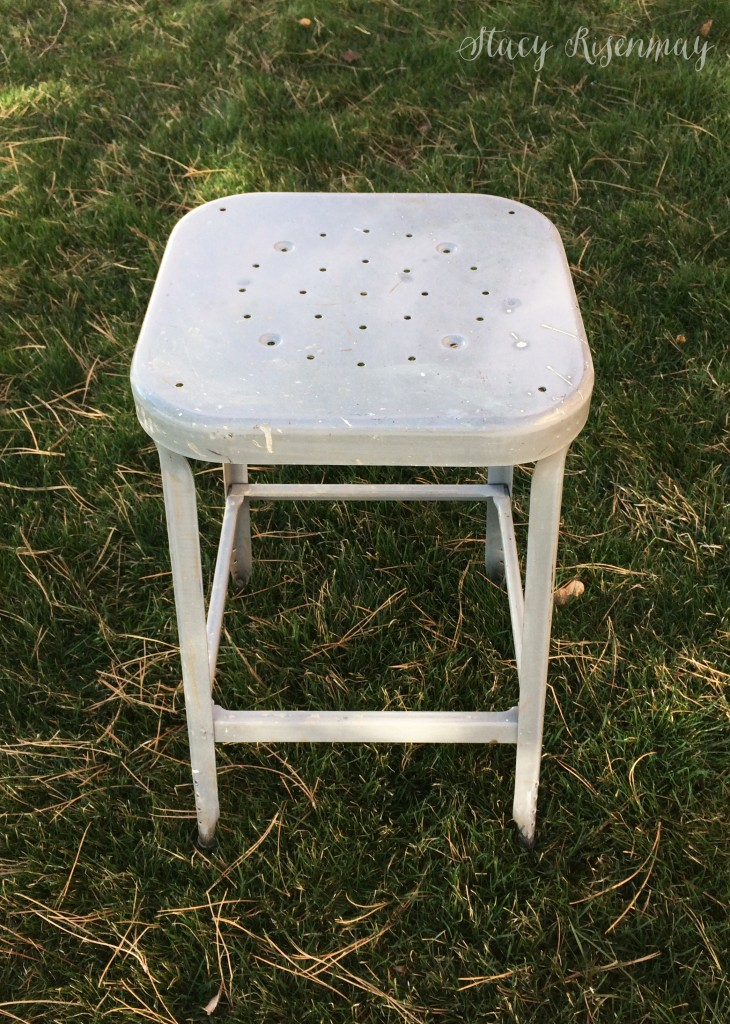 vintage stool - before