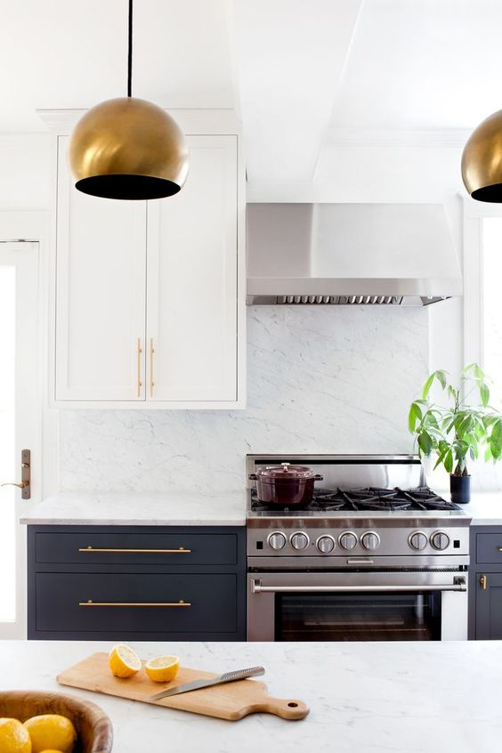 mixed metal finishes kitchen
