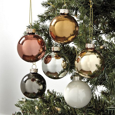 mixed metal ornaments