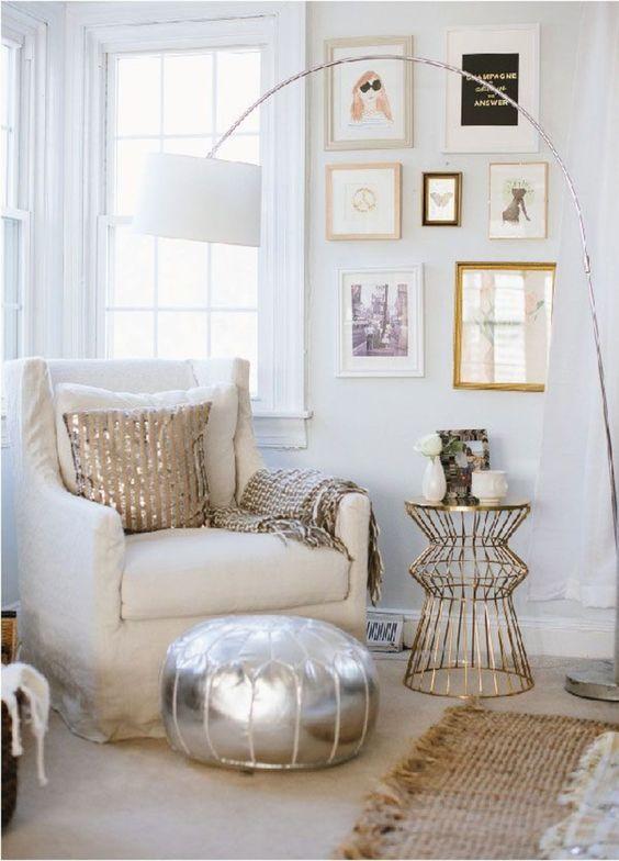 mixed metals living room