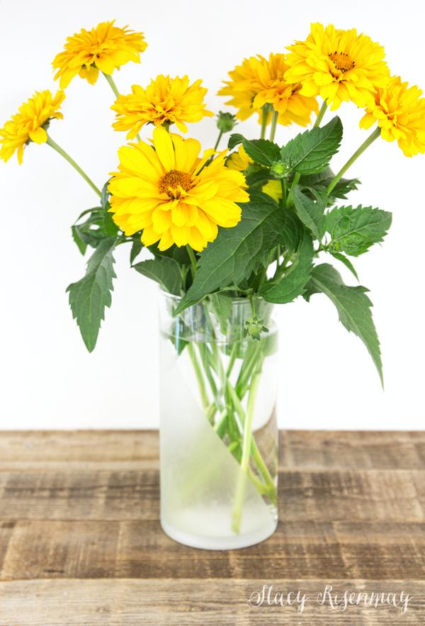 DIY glass etched vase