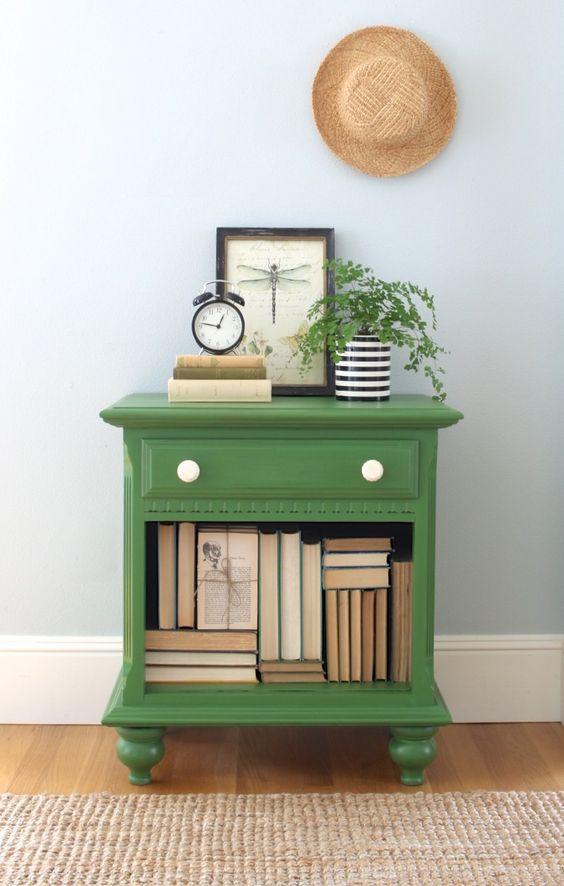 green nightstand