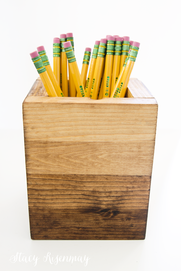 Ombre stained pencil holder