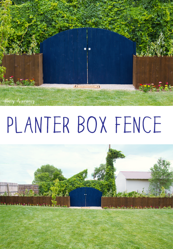 Planter boxes that also act as a fence!