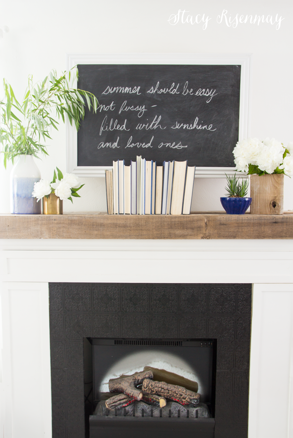 summer-mantel-decor