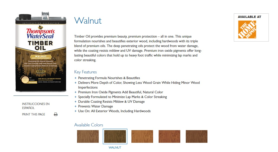 walnut timber oil