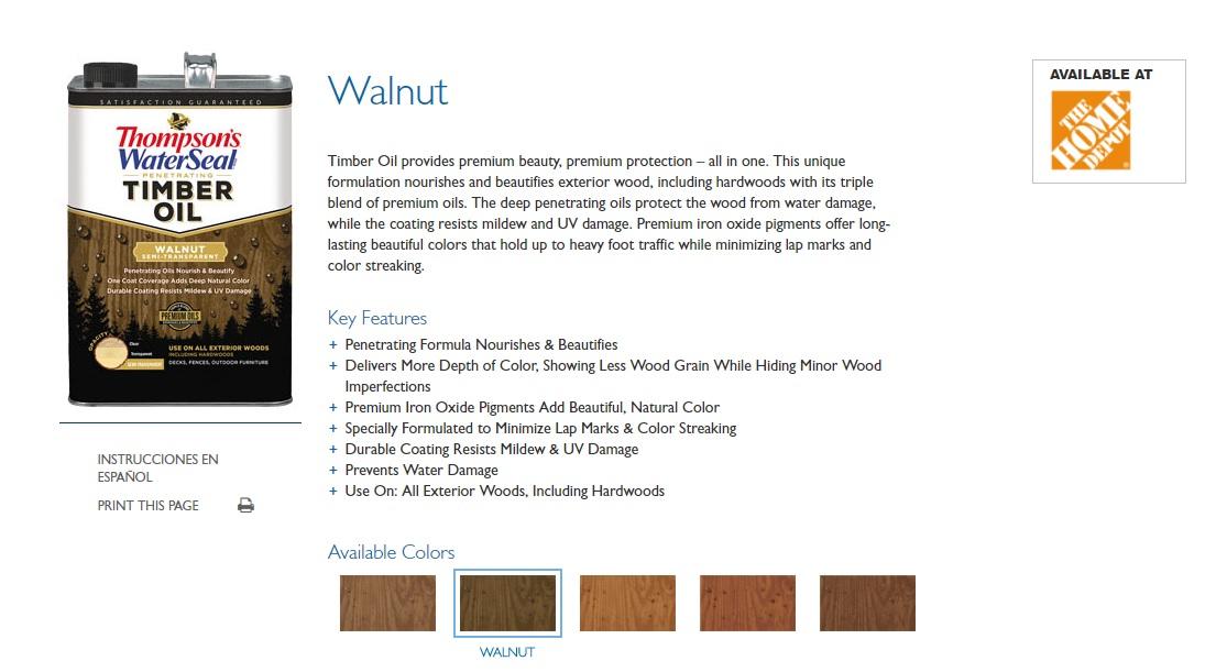 walnut timber oil
