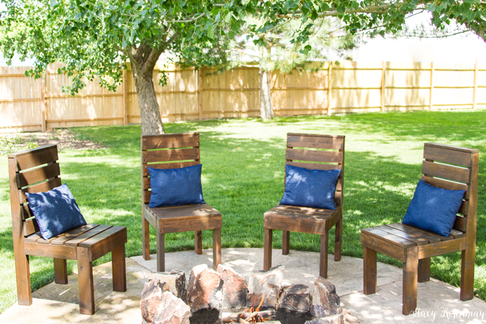 They Fit Around Our Firepit Nicely! DIY Outdoor Chairs