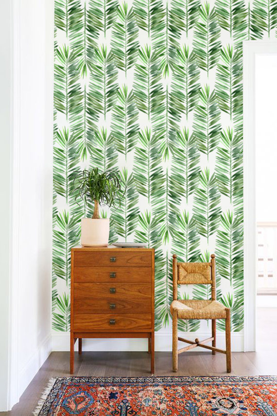 botanical wallpaper print