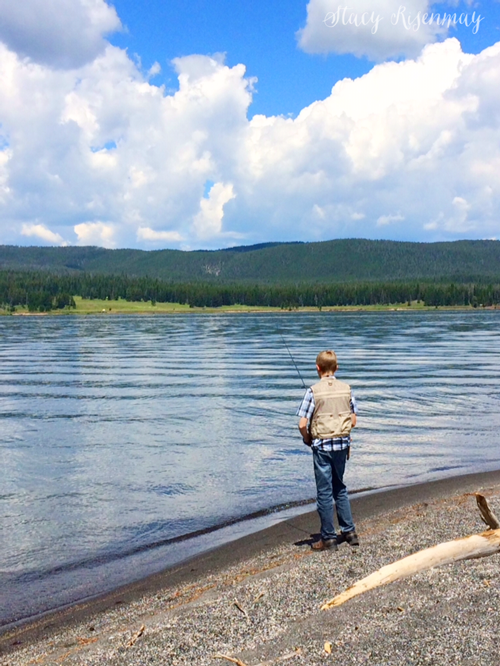 July oh my stacy risenmay for Yellowstone lake fishing