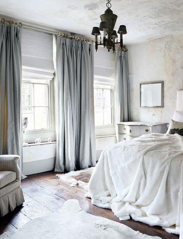 gray velvet curtain