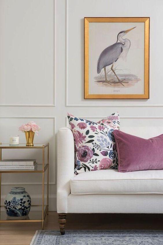pink velvet pillows