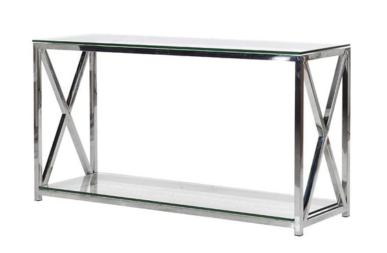 chrome entryway table